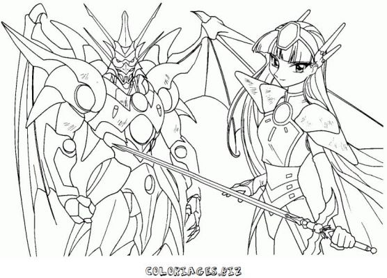 Coloriages magic knight rayearth page 1 h ros - Coloriage magi ...