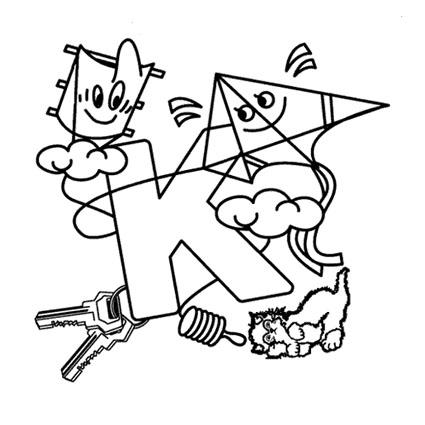 أوراق عمل الاحر ف تلوين للاطفال بالانجليزية k.jpg