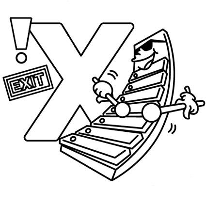 أوراق عمل الاحر ف تلوين للاطفال بالانجليزية x.jpg