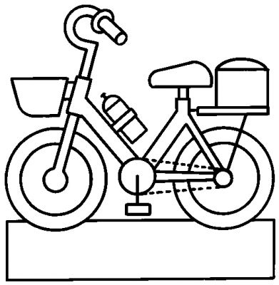 Coloriage bicyclette - Dessin bicyclette ...