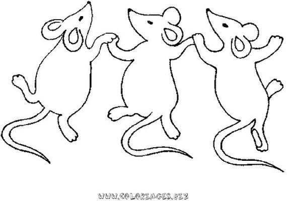 Coloriages animaux domestiques divers page 2 animaux - Dessin sourie ...