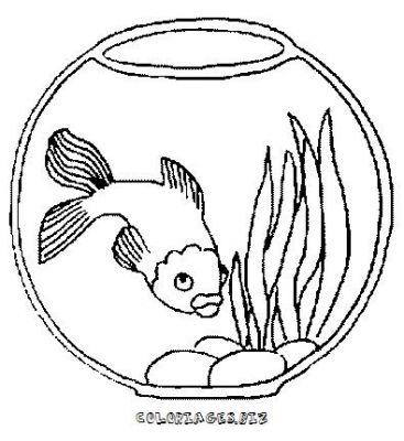 Coloriages poissons et aquariums page 1 animaux - Dessin de poisson rouge ...