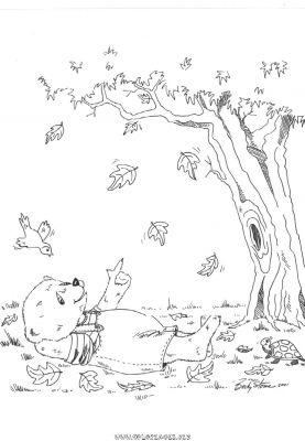 Coloriage un arbre qui perd ses feuilles gratuit pays et - Arbre automne coloriage ...