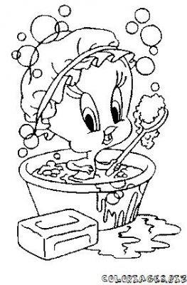 Coloriages bain et douche se laver page 1 bain et douche - Dessin se laver ...