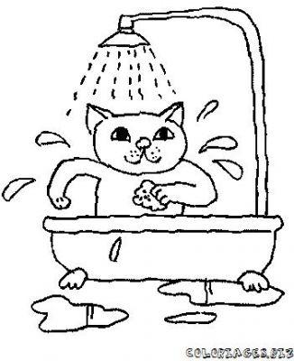 Coloriages bain et douche se laver page 1 bain et douche - Douche coloriage ...