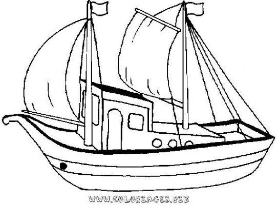 Coloriage de bateau a imprimer - Coloriage petit bateau imprimer ...