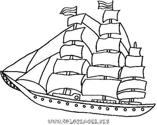 dessin a imprimer bateau