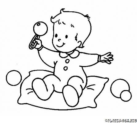 Coloriages page 8 - Coloriage de bebe ...