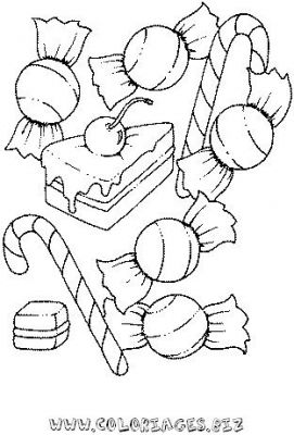 Coloriages bonbons de noel page 1 noel - Bonbon en dessin ...
