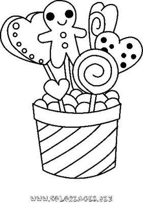 coloriage en ligne Bonbons de Noel gratuit 9810 - Noel