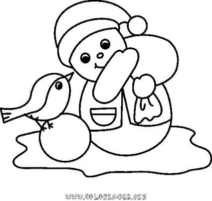 Coloriages bonhomme de neige page 1 noel - Bonhomme de neige coloriage ...