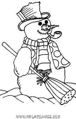 Coloriages gratuits noel page 1 - Bonhomme de neige a colorier ...
