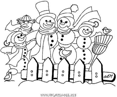 Coloriages page 112 - Bonhomme de neige coloriage ...