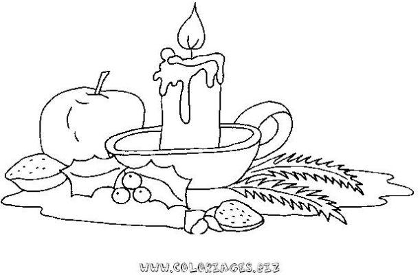 Coloriage en ligne bougies de noel gratuit 9175 noel - Dessin de bougies ...