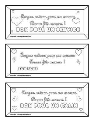 coloriages gratuits coupons cadeaux f te des mamans fdm cadeau imprimer et colorier pour. Black Bedroom Furniture Sets. Home Design Ideas