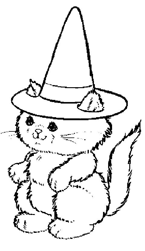 Dessin chiot mignon - Dessin chat halloween ...