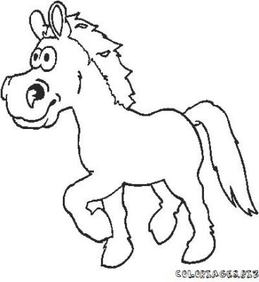 Coloriage Cheval Rigolo.Coloriages Cheval Page 12 Animaux