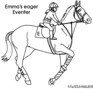 Coloriage de cheval qui saute - Cheval qui saute dessin ...
