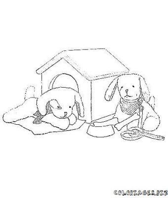 Coloriages gratuits chiens adorables chiens niche - Coloriage niche ...