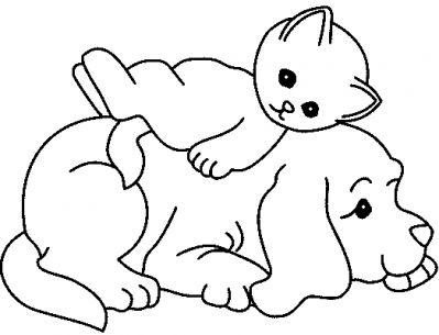 Coloriages chiens adorables page 1 chiens adorables - Chiot a colorier ...