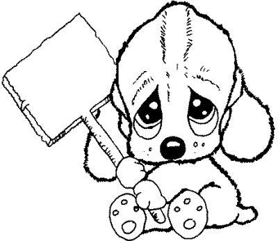Coloriages gratuits chiens adorables coloriage chien 37 - Chiot a colorier ...