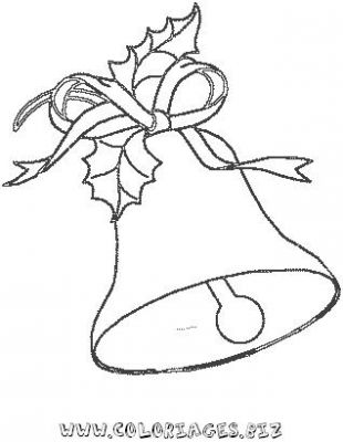 Coloriages cloches de noel page 1 noel - Dessin de cloche ...