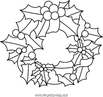 Coloriages couronnes de noel page 1 noel - Coloriage couronne ...