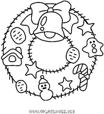 Dessin couronne de noel coloriage exactjuristen - Coloriage couronne ...