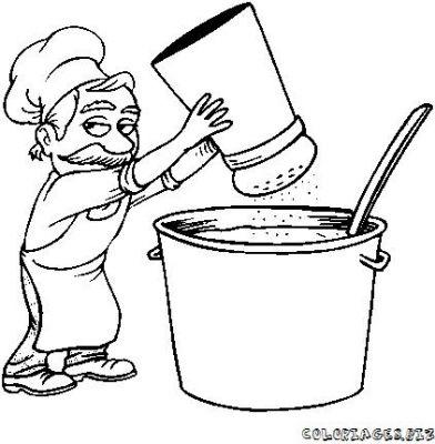 Chef cuisinier en coloriages - Cuisinier dessin ...