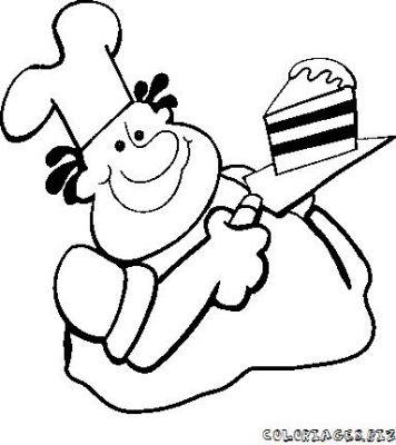 Dessins gateau et cuisinier - Cuisinier dessin ...
