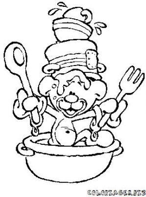 Coloriages gratuits cuisinier 0coloriage cuisinier - Cuisinier dessin ...
