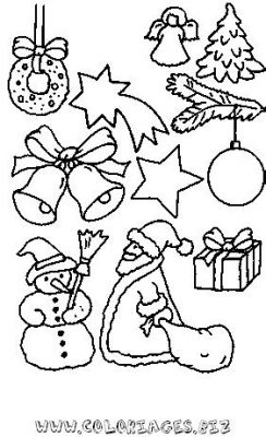 Coloriages decors de noel d couper page 1 noel for Decoration noel dessin