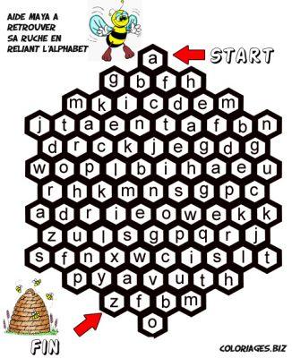Coloriages labyrinthes vrac page 1 labyrinthe - Dessiner l alphabet ...