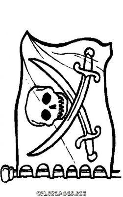 Coloriage drapeau de pirate - Coloriage drapeau ...
