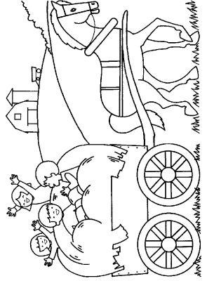 Coloriage Cheval Avec Caleche.Coloriage En Ligne Coloriage Enfant Caleche Cheval Gratuit Famille