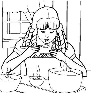 coloriage enfant qui mange