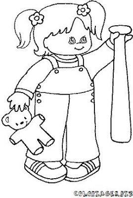 Coloriage en ligne coloriage enfant et peluche gratuit - Coloriage en ligne enfant ...