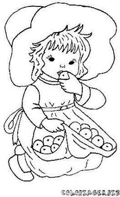 Coloriage en ligne coloriage enfant avec des fruits - Coloriage en ligne enfant ...