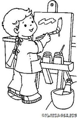 Coloriage en ligne coloriage enfant fait de la peinture - Jeu de peinture en ligne ...