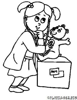 comment dessiner une infirmiere