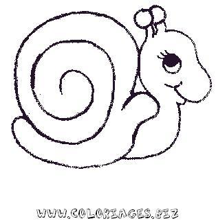 Fabrique ton emploi du temps colorier enfant - Image escargot a colorier ...