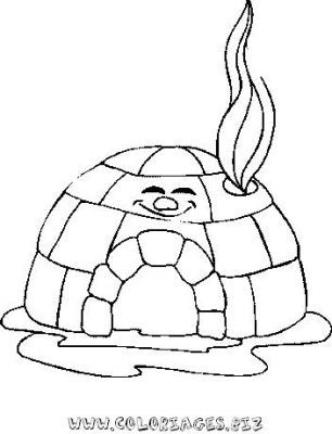 Coloriages esquimeaux page 1 h ros - Coloriage igloo ...