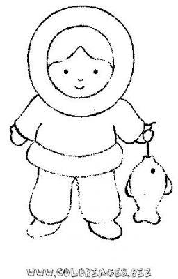 Coloriages gratuits esquimeaux igloo et nounours - Coloriage igloo ...