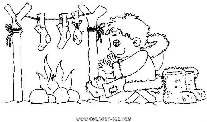 Coloriages esquimeaux page 1 h ros - Esquimau dessin ...