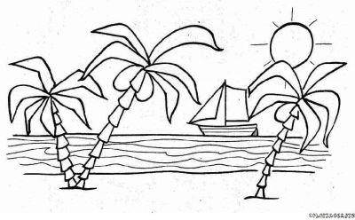 Dessin palmier coloriage - Dessin palmier ...