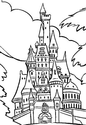 Disneyland paris dessin - Coloriage chateau de princesse ...