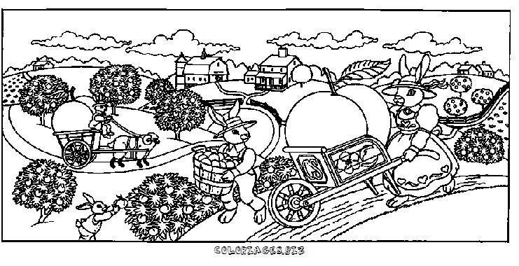 Coloriage ferme - Dessin de ferme ...