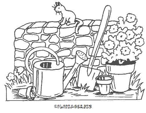 Dessin de la ferme - Dessin de potager ...
