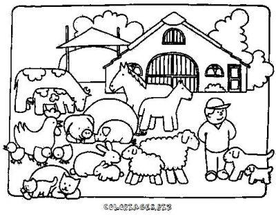 Coloriage en ligne ferme gratuit animaux - Coloriage ferme ...