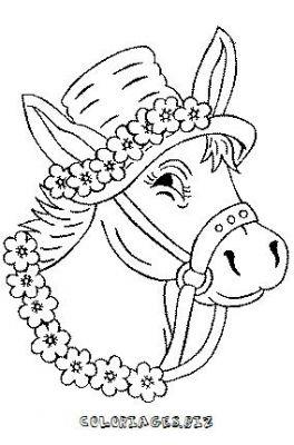 Dessin tete de cheval - Dessin tete de profil ...